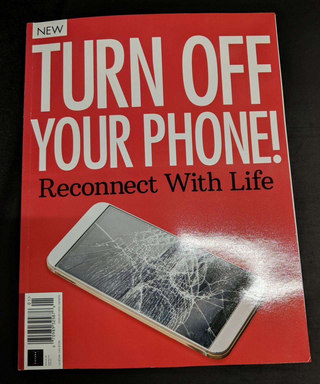 Now they're writing ENTIRE MAGAZINES to tell us about how evil phones are