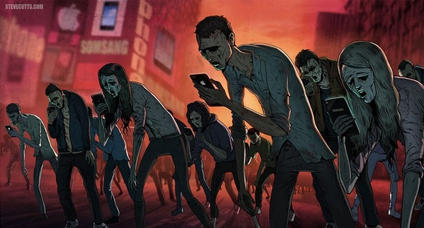 People with phones=mindless zombies