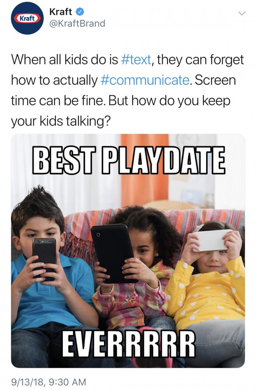 A mix of PhonesAreBad and FellowKids