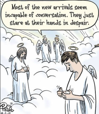 They should've gone to hell for using phones tbh