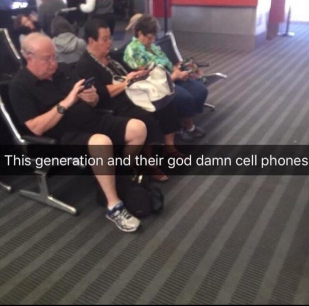 """This generation and their god damn cell phones ' \  ll"""", https://inspirational.ly"""