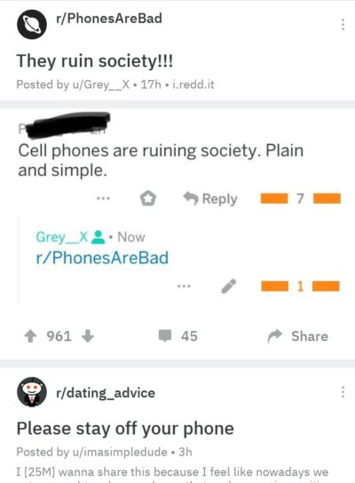Phones are really bad