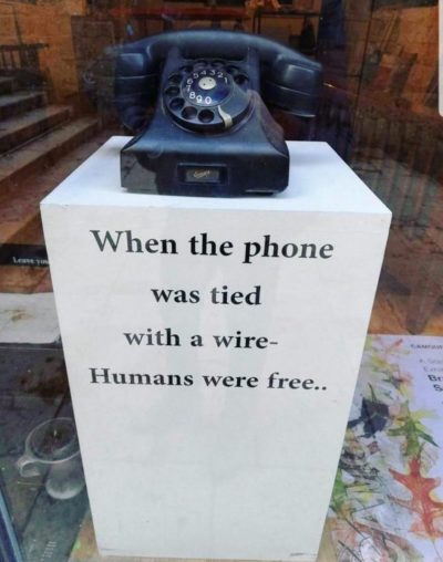 Phones' evolution enslaved us