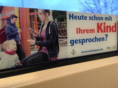 Have you talked to your child today – Campaign in electric tram in Germany
