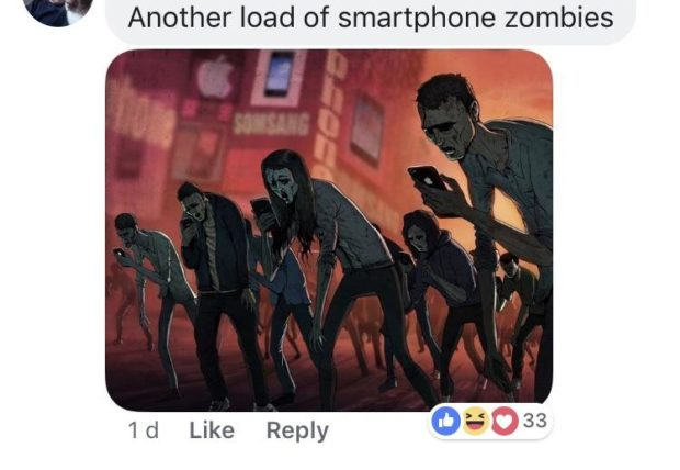 Another load of smartphone zombies 1d Like Reply 0: 33 https://inspirational.ly