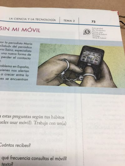 Picture in my spanish textbook