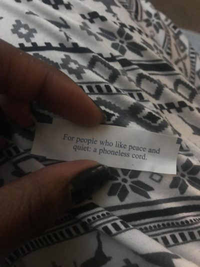 From my fortune cookie…
