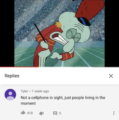 On a SpongeBob video