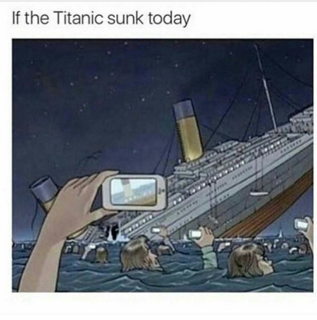 If the Titanic https://inspirational.ly