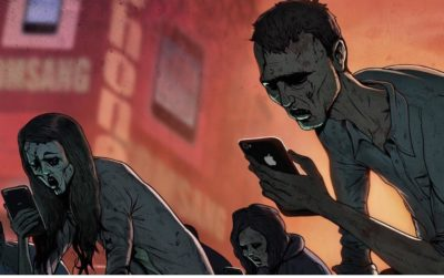 Phones make us zombies, finally someone has the nerve to point it out.