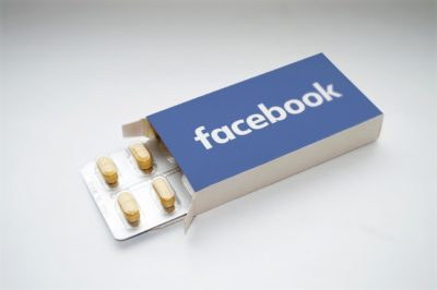 Facebook is like an addictive pill or something (found on pixabay.com)