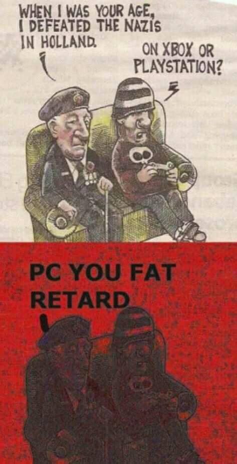 WHEN I WAS YOUR AGE. I DEFEATED THE NAZIS MOW ouxeox 0R PLAYSTATION? 7 https://inspirational.ly