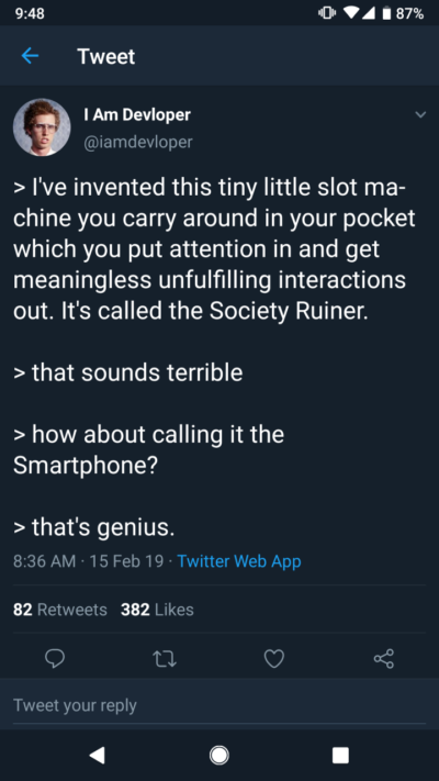 "This woke ""programmer humor"" Twitter account"