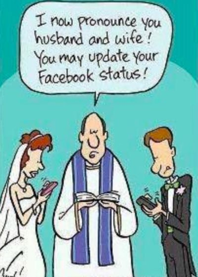 Wowee Facebook says I'm married!