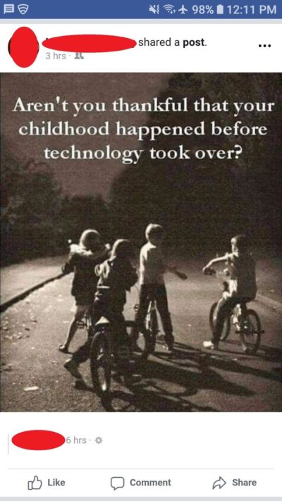 YoU CaN't HabE cHildHoOd wIff A phONe!!!