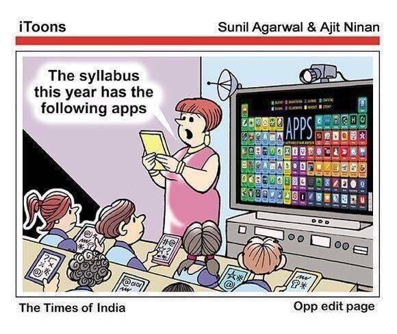 "iToons Sunil Agarwal & Ajit Ninan The syllabus this year has the following apps a ""Hm 7"" .umv 61!ng The Times of India Opp https://inspirational.ly"