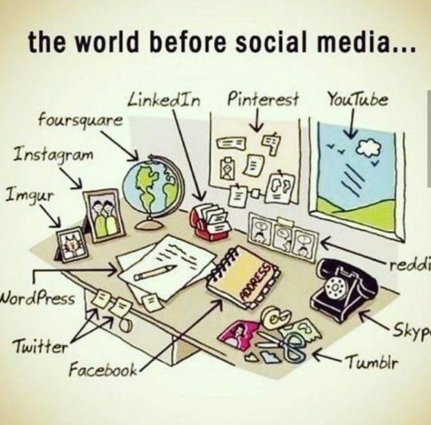 the world before social media... Linkedl'n https://inspirational.ly