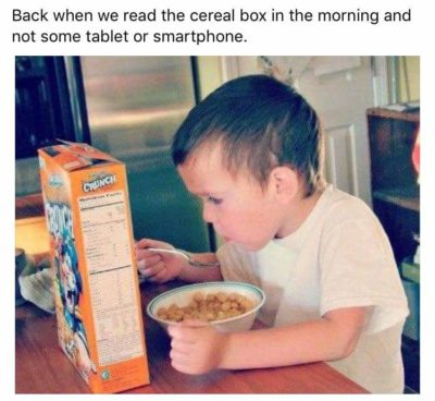 cereal boxes clearly are the superior source of entertainment