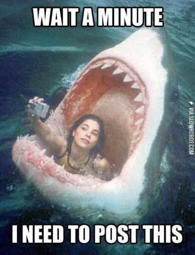 But first, lemme take a selfie!