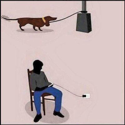 If you use your phone while it's charging you might as well be a dog on a leash!!!