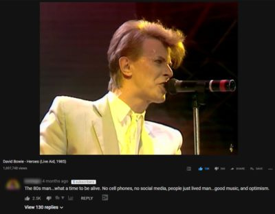 On a video from David Bowie's Live Aid Performance