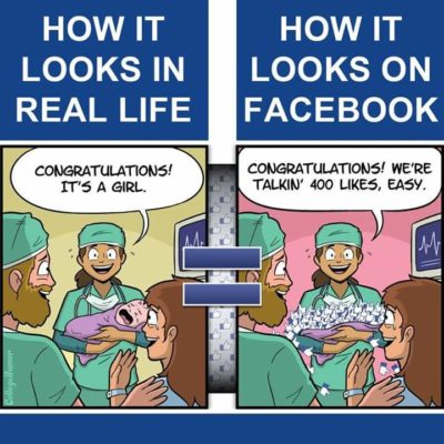 My baby turned into Facebook likes