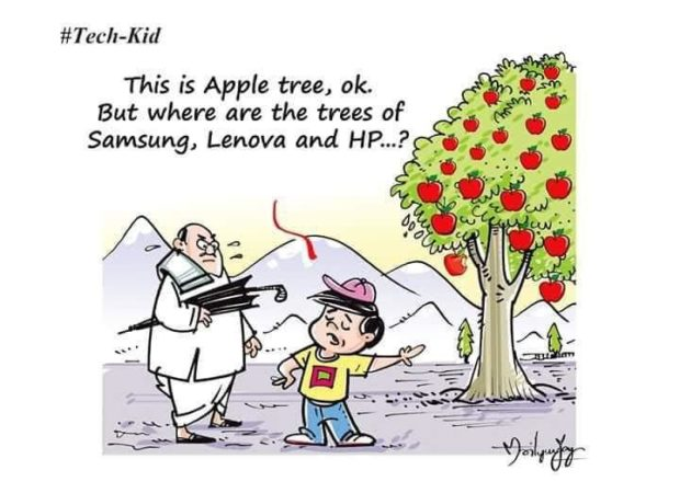 "#TecII-K id This is Apple tree, ok But where are the trees of - Samsung, Lenova and HP..;<'~'_~ "" https://inspirational.ly"