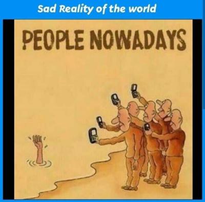 We live in a society, so sad.