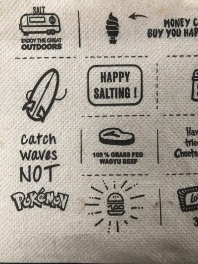 Found on a napkin at a local beach restaurant