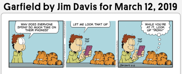 Garfield by Jim Davis for March 12, 2019 spgnagfiégv'zggfim , [LET meimox THAT up] wgihigogfié'ge https://inspirational.ly