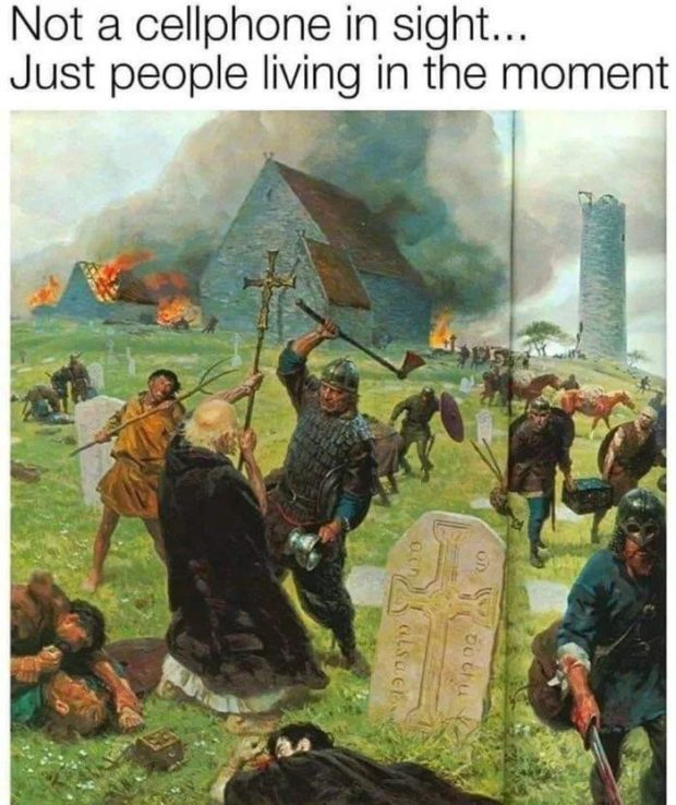 Not a cellphone in sight... Just people living in the moment t _.' https://inspirational.ly