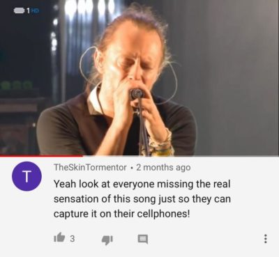 on a radiohead video oof