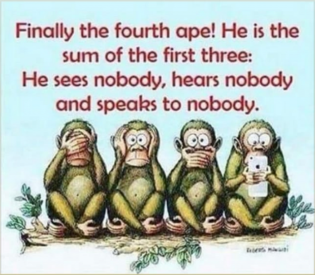 "Finally the fourth ope! He is the sum of the first three: He sees nobody, heors nobody and species to nobody. ""A I. ' 0'.  ' . -  K... C . . a ' o ,I. - https://inspirational.ly"