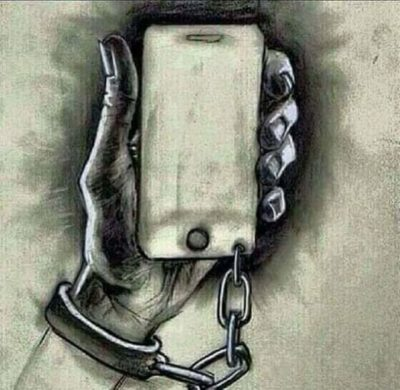 "Oh great, another one of those ""we are prisoners of our phones"""