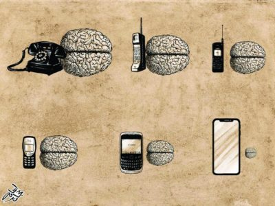 Brain get small, phone get big(?)