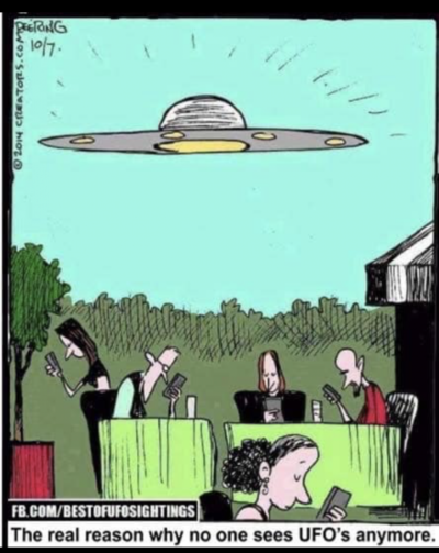Phones bad, UFOs good
