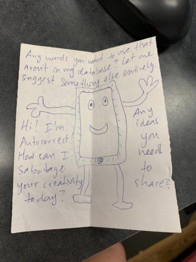 Auto correct destroys creativity