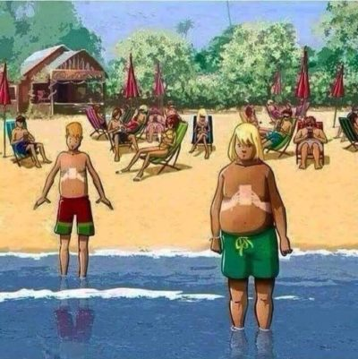 Phone bad at beach