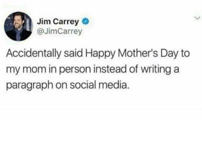 Jim carry back at it again.