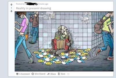 We live in a society! Found in r/drawing