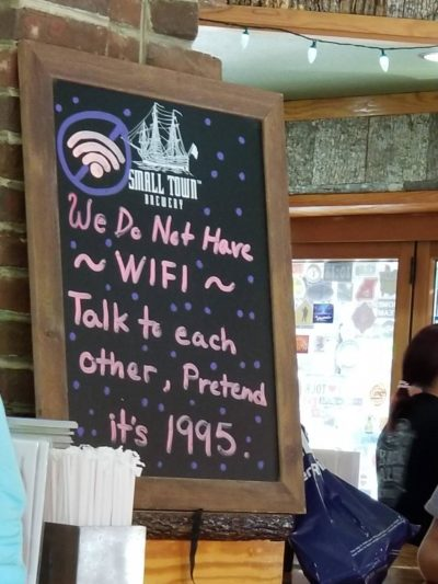 """We're too cheap for Wi-Fi, but you're the bad one for wanting it!"""