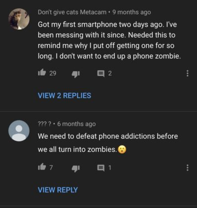 On a phones bad video