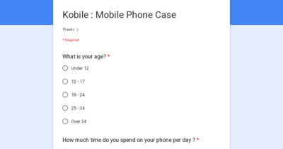 Just a survey on phone usage