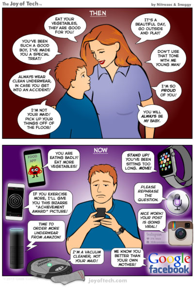 Phones are taking over mother roles