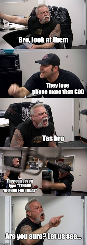 Redo of that baby meme about phones.