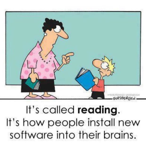 It's called reading. It's how people install new software into their brains. https://inspirational.ly