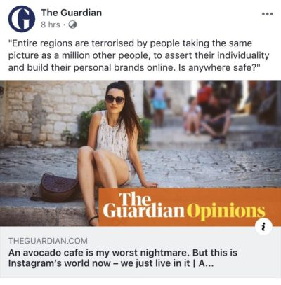 The youth are FORCING us to eat avocado and post pictures of it