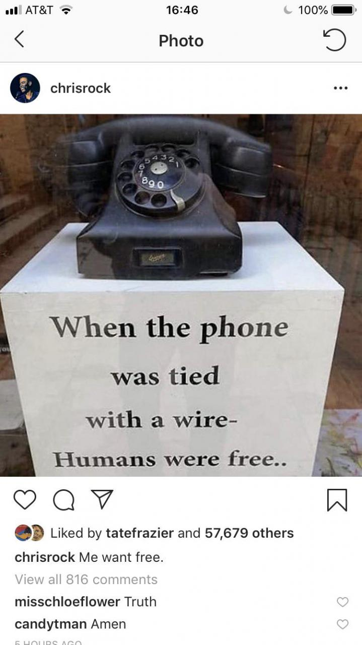 Chris Rock posted this on a cell phone