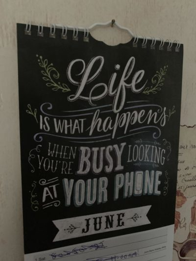 My mum's calendar…