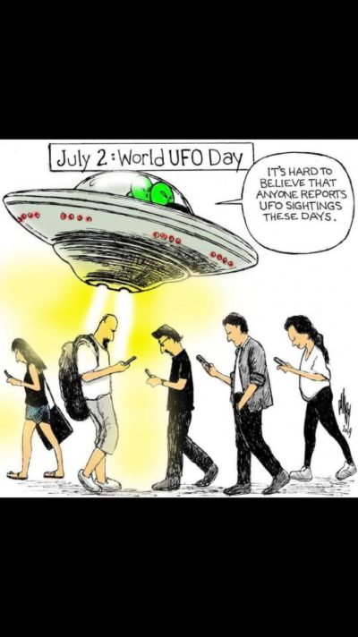 Even the UFOs think phones are bad
